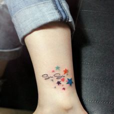女生脚部纹身图案推荐大全