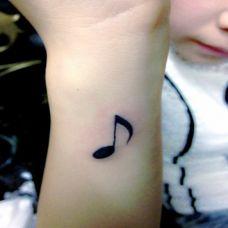 音乐可爱纹身小图片素材