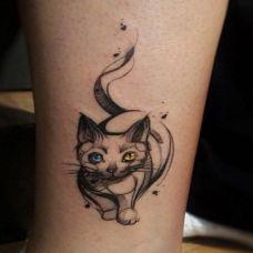 小猫的纹身图案精选素材