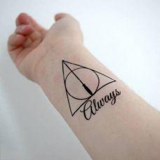 简单的手腕几何图形纹身图片
