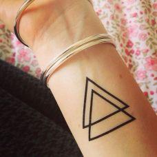 几何图形简单纹身图片