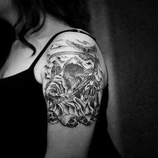 情侣死神纹身图片大全欣赏