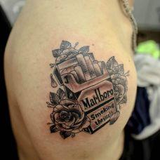 好看烟型手臂纹身图案素材