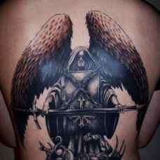 死神翅膀朝下纹身图片合辑