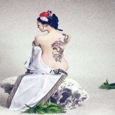 古典美女纹身图片高清素材