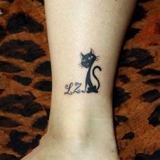 纹身猫咪图案个性图片合辑