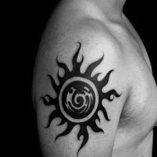 邪恶太阳图腾纹身图案大全