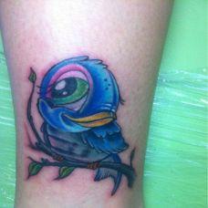 肩膀蓝色纹身图案精选合辑