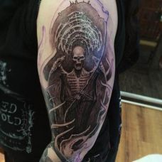 恶魔图腾花臂纹身图片合辑
