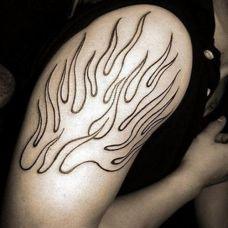 燃烧的火焰纹身图案大全