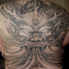 黑社会纹身男人图片素材