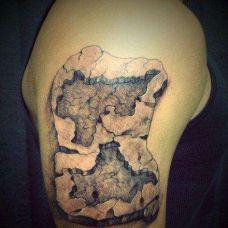 石头纹身图案个性图片