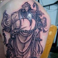 最酷手臂关公纹身图案大全图片