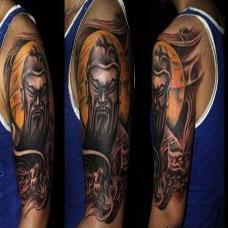 男生关公纹身图案大全手臂图片