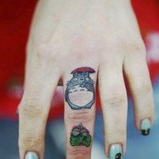 手指纹身小图案图片大全