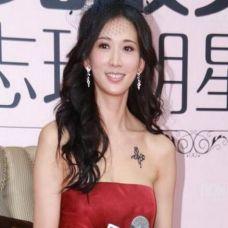 林志玲半裸香肩秀蝴蝶纹身性感图片