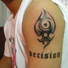 纹身图案加字母图片素材