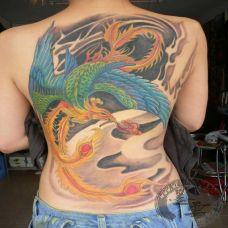 不死鸟纹身图案精选大全