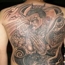二郎神纹身图片高清素材