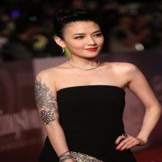 范晓萱大臂个性纹身图片