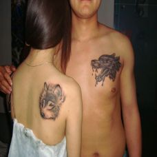 情侣纹身图案高清素材图片