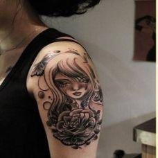 女生纹身图纸手臂图片