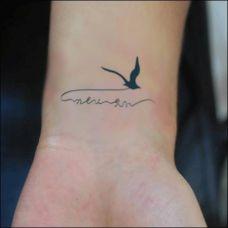 好看的纹身海鸥图案大全