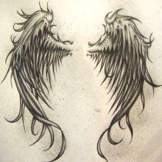 天使翅膀纹身图案高清图片
