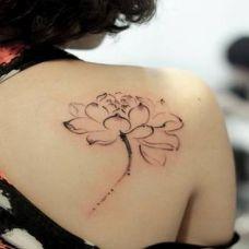 女生后背纹身图案大全