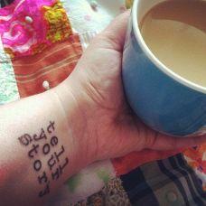 个性女生手腕英文纹身图片