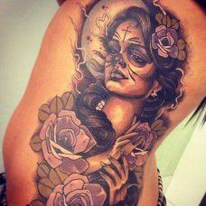 纹身人物女图案精选图片