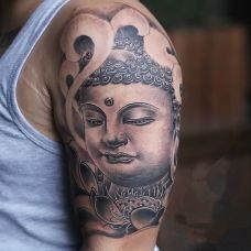 佛纹身图片个性图案合辑