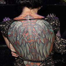 女生d背部翅膀纹身图案大全