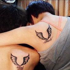 情侣肩膀个性纹身图案大全
