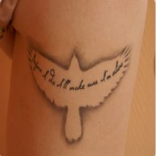 女性老鹰唯美英文纹身小图案