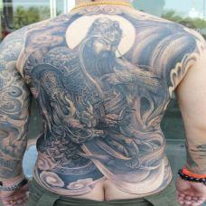 满背霸气d关公纹身图案大全