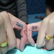 好看的情侣手指内侧纹身图片欣赏