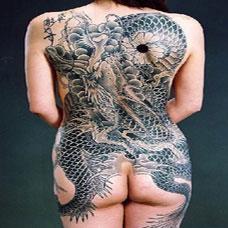 欧美美女全背经典龙纹身图片大全