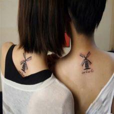 时尚经典的情侣背部纹身图片大全