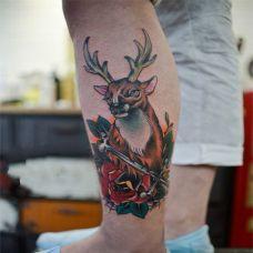 小腿纹身图片男生图案合辑