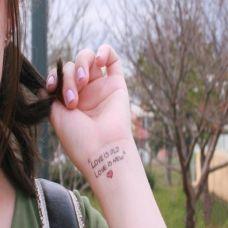 女生可爱的手臂英文纹身图片欣赏