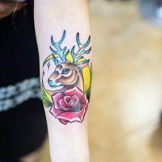 手部玫瑰花纹身小图案合辑