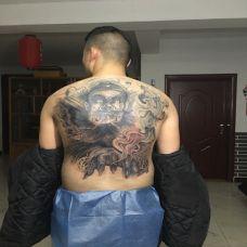 霸气钟馗满背纹身效果图展示