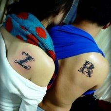 炫酷简单英文情侣纹身图案大全图片