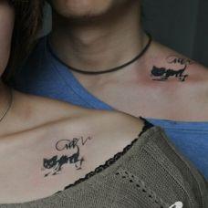 情侣简约时尚英文纹身图案大全