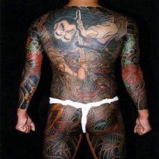 超级霸气的钟馗大满背纹身图案