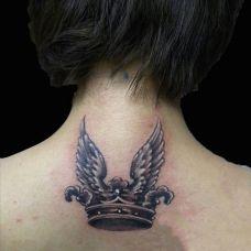 颈部纹身图案大全个性图片
