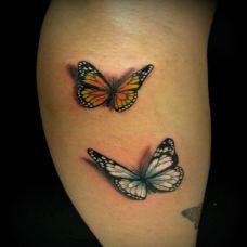 漂亮逼真的蝴蝶纹身图案作品欣赏