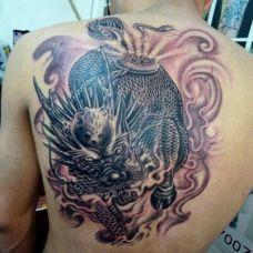 最时尚臂膀麒麟纹身图案大全