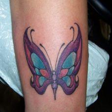 简单好看的蝴蝶纹身图案照片
